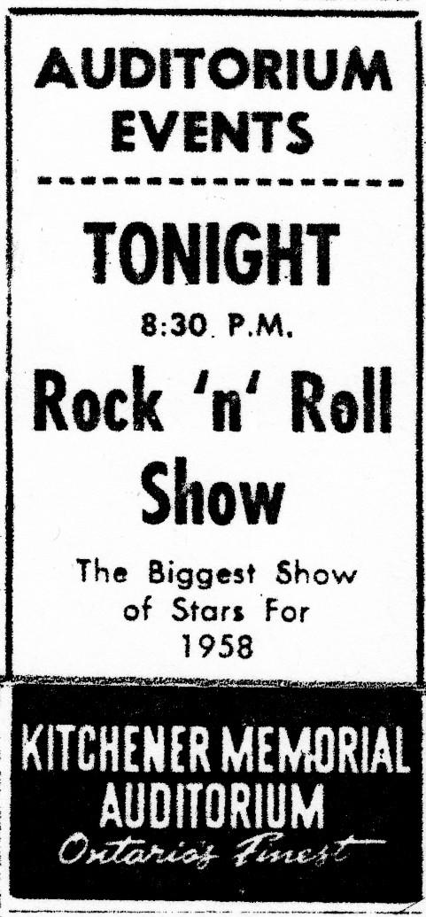 KitchenerRock&RollShowAdApril11-1958