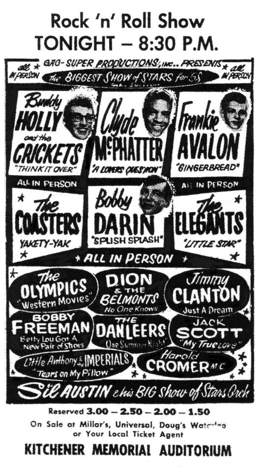 Rock&RollShowKitchenerOctober7-1958